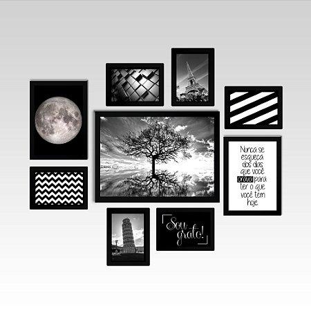 Conjunto - Quadros Decorativos Para Sala Night 9 Pçs