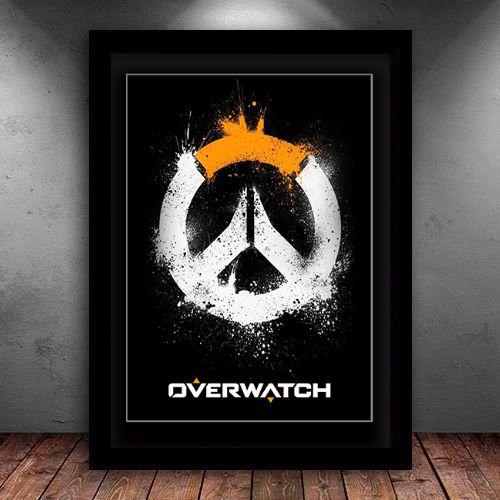 Poster com Moldura - Overwatch Logo