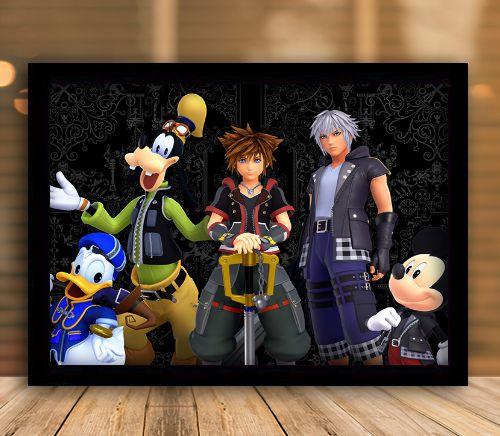 Poster com Moldura - Kingdom Hearts 3