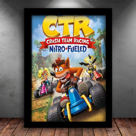 Poster com Moldura - Crash Kart Nitro Fueled