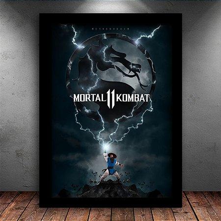 Poster com Moldura - Mortal Kombat Onze