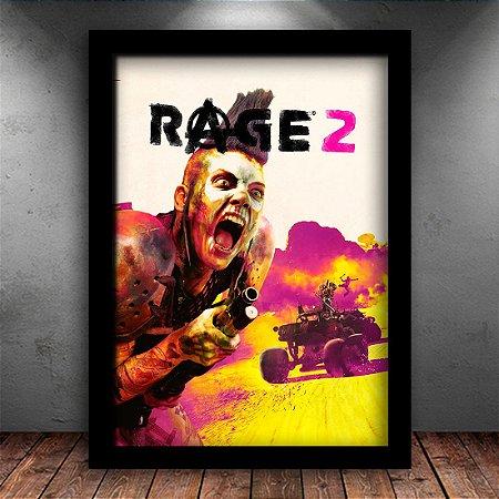 Poster com Moldura - Rage 2 Game