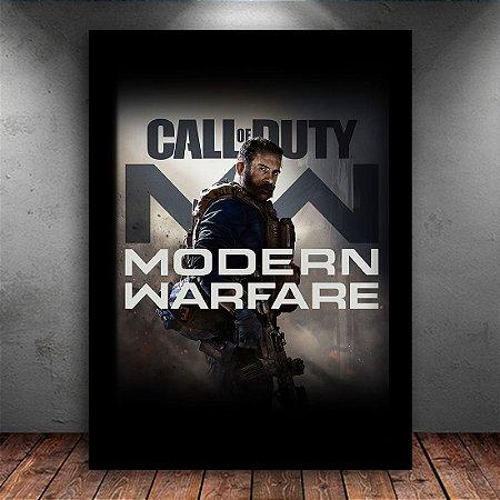 Poster com Moldura - Call Of Duty Mordern Warfare 2019