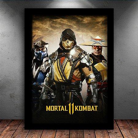 Poster com Moldura - Mortal Kombat 11 Scorpion
