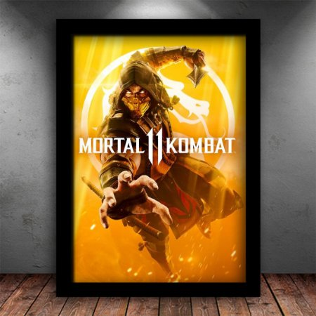 Poster com Moldura - Mortal Kombat XI Scorpion