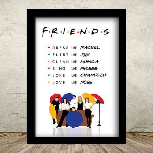 Poster com Moldura - Friends Like