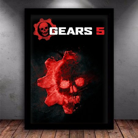 Poster com Moldura - Gears Of War 5 Black