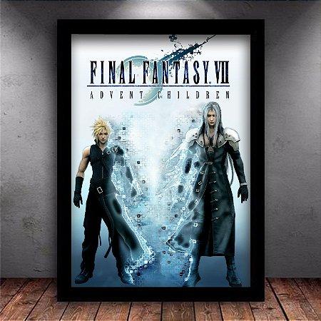 Poster com Moldura - Final Fantasy 7