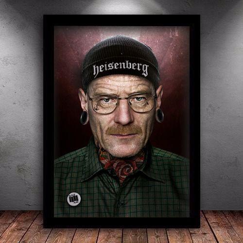 Poster com Moldura - Breaking Bad Tattoo Walter White