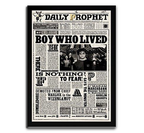 Poster com Moldura - Daily Diario Harry Potter