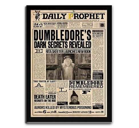 Poster com Moldura - Daily Diario Harry Potter Dumbledore