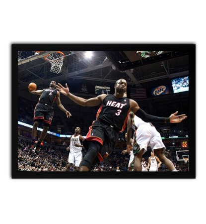 Poster com Moldura - Lebron & Wade Legend Photo