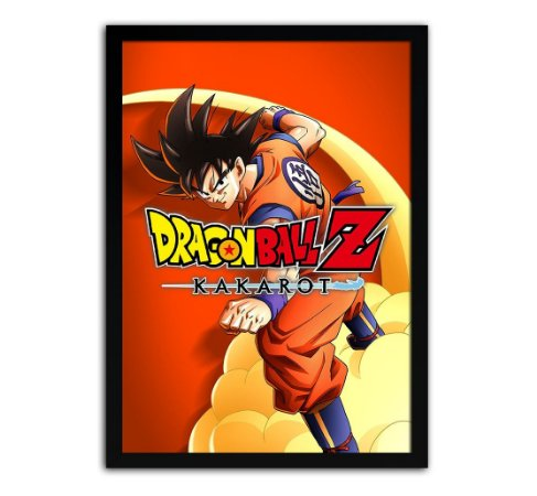Poster com Moldura - Dragon Ball Z Kakarot