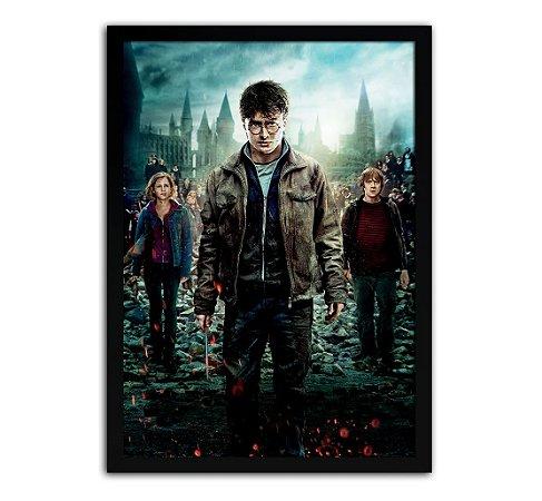 Poster com Moldura - Harry Potter E As Relíquias Da Morte