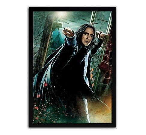 Poster com Moldura - Harry Potter Severus Snape