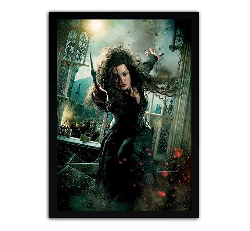 Poster com Moldura - Harry Potter Belatriz Lestrange