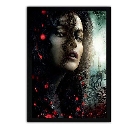 Poster com Moldura - Harry Potter Belatriz Lestrange Mo.2
