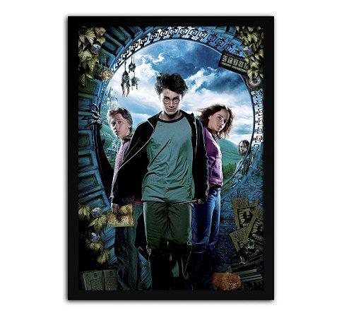 Poster com Moldura - Harry Potter E O Prisioneiro De Azkaban