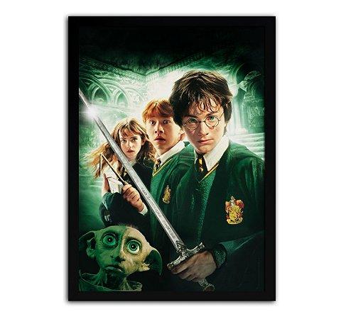 Poster com Moldura - Harry Potter E A Câmara Secreta