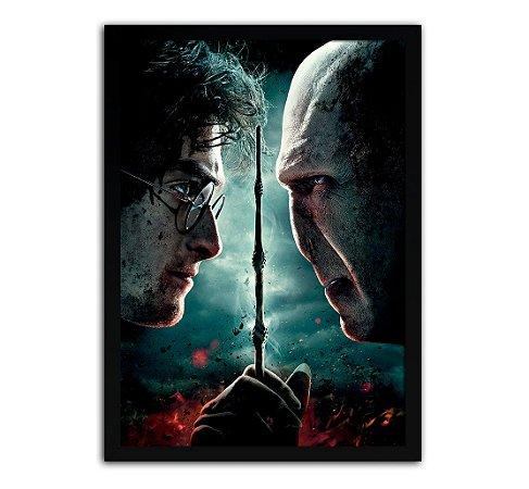 Poster com Moldura - Harry Potter Vs Lord Voldemort