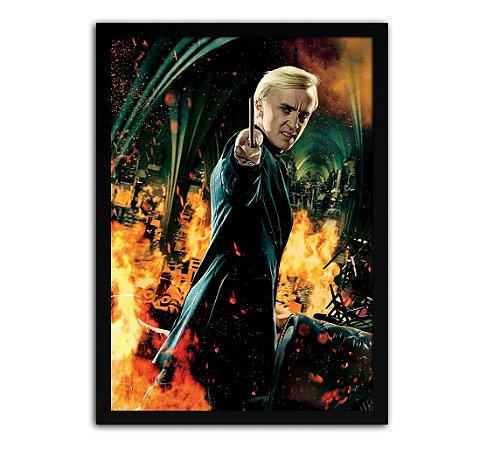 Poster com Moldura - Harry Potter Draco Malfoy
