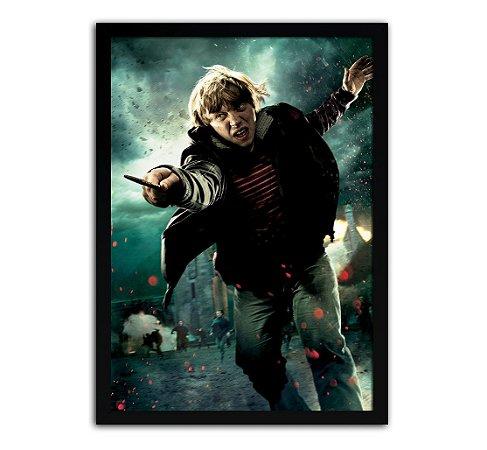 Poster com Moldura - Harry Potter Ron Weasley