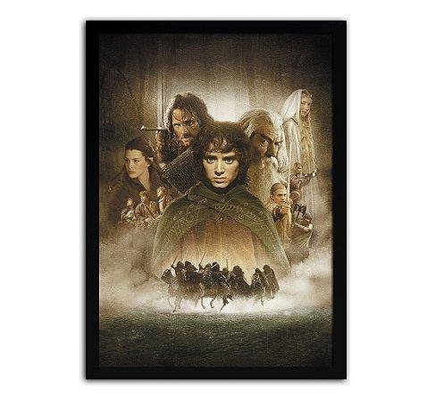 Poster com Moldura - Senhor Dos Anéis A Sociedade Do Anel