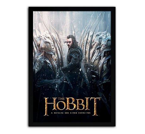 Poster com Moldura - O Hobbit A Batalha Dos Cinco Exércitos
