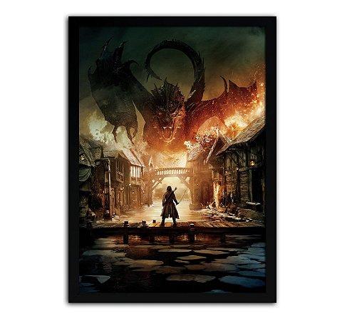 Poster com Moldura - O Hobbit Smaug