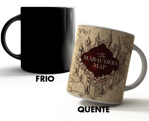 Caneca Mágica - Harry Potter Mapa do Maroto