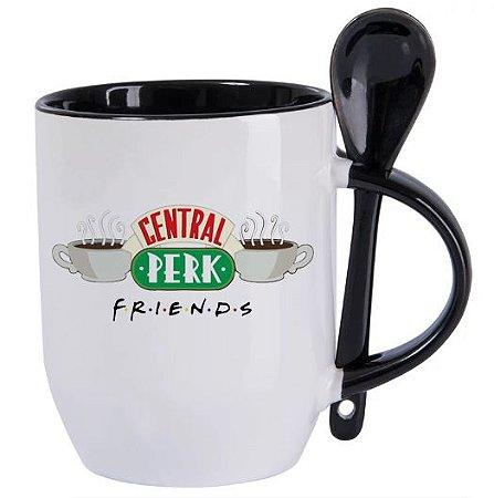 Caneca Com Colher - Central Perk Friends