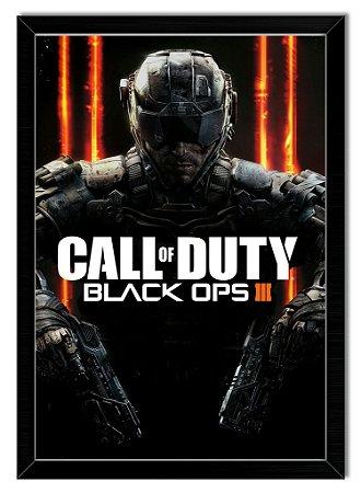 Pôster com Moldura Gamer - Call Of Duty Black Ops 3