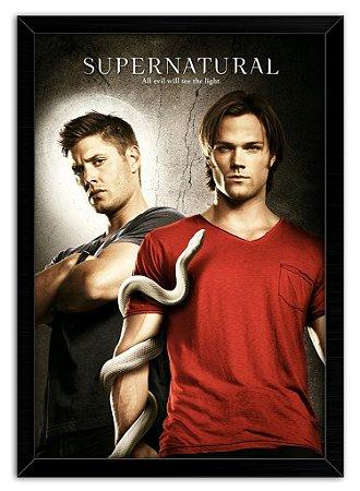 Poster Com Moldura Série - Supernatural Mod.02