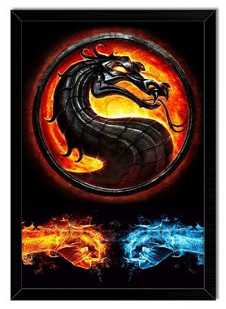 Poster Com Moldura - Mortal Kombat