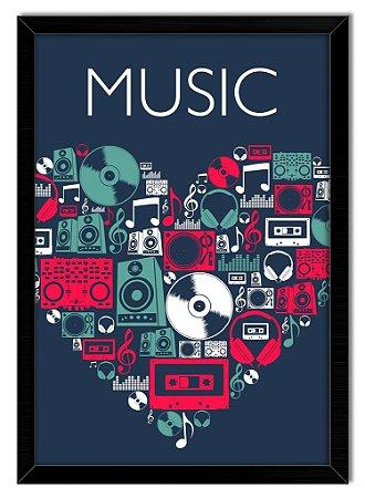 Poster Com Moldura - Musica Lover