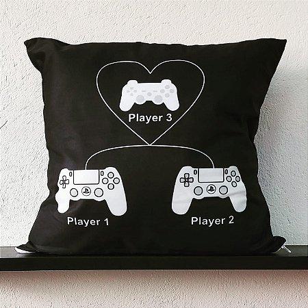 Almofada - Família Gamer Player 1, Player 2 E Player 3
