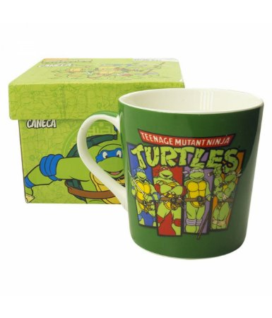 Caneca de Porcelana - Tartarugas Ninja