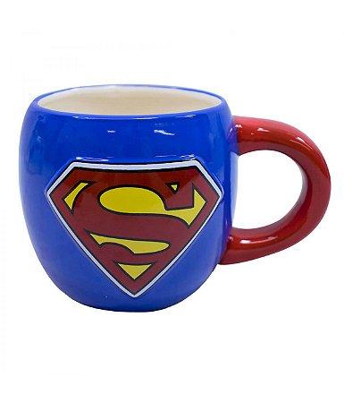 Caneca Grande De Porcelana - Superman Liga Da Justiça 600 ml