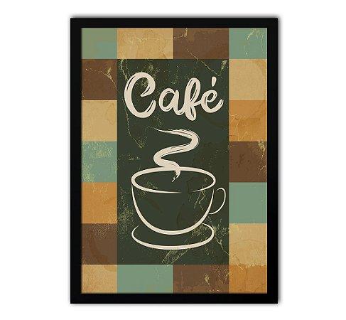 Pôster Com Moldura - Cantinho Do Café