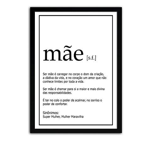 Quadro Significado Mãe - Presente Dia Das Mães