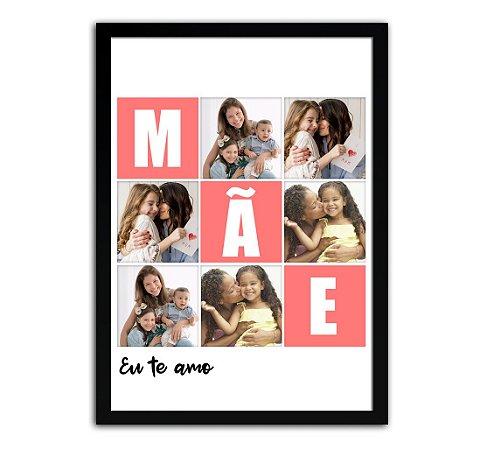 Quadro Personalizado Com Fotos - Presente Para Dia Das Mães
