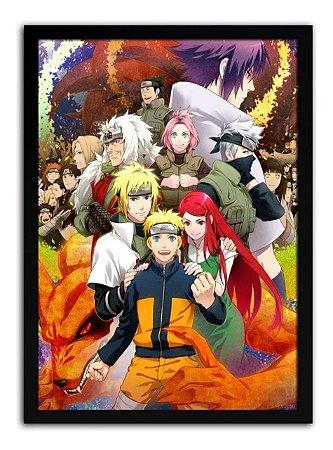 Pôster Com Moldura - Personagens Naruto