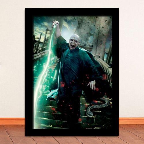 Poster com Moldura - Lord Voldemort Harry Potter