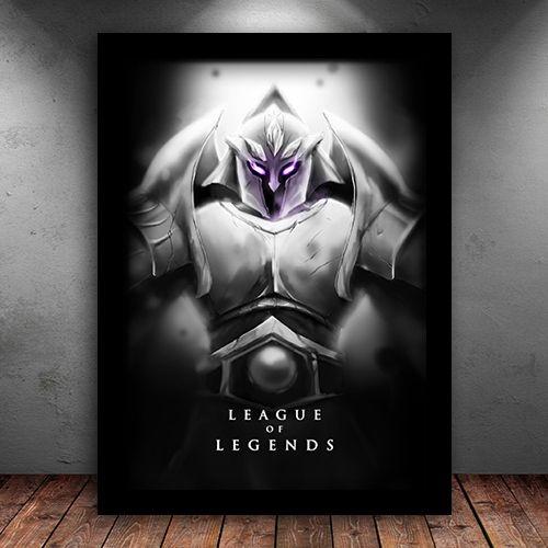 Poster com Moldura - Malzahar League Of Legends