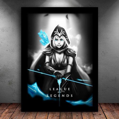 Poster com Moldura - Ashe League Of Legends