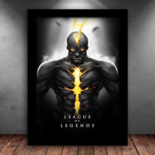 Poster com Moldura - Brand League Of Legends