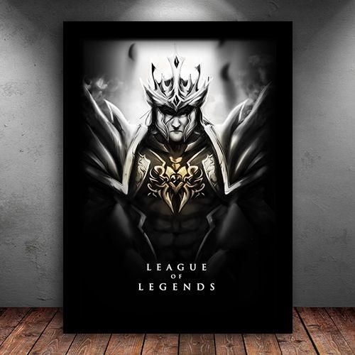 Poster com Moldura - Jarvan League Of Legends