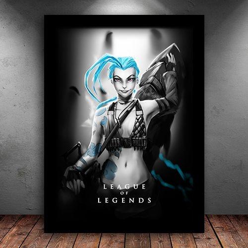 Poster com Moldura - Jinx League Of Legends