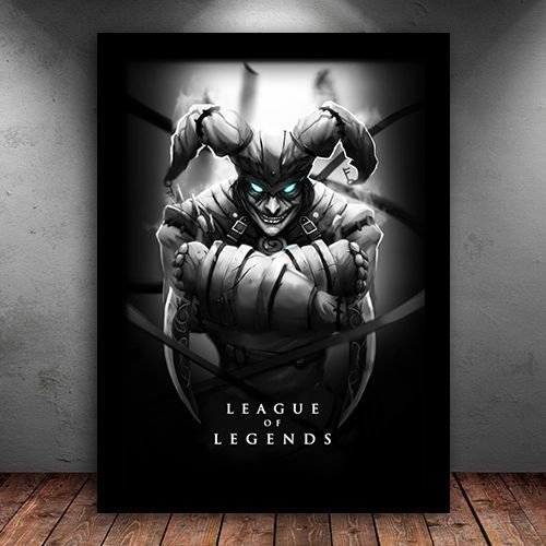 Poster com Moldura - Shaco League Of Legends