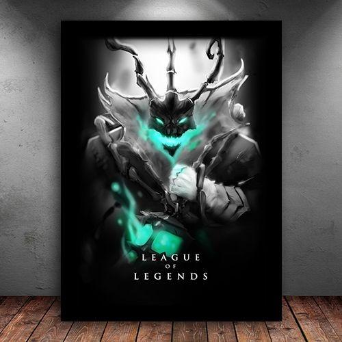 Poster com Moldura - Thresh League Of Legends